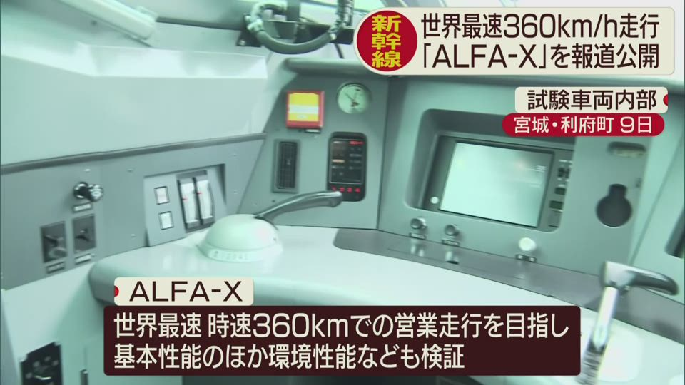 新幹線試験車両「ALFA−X」