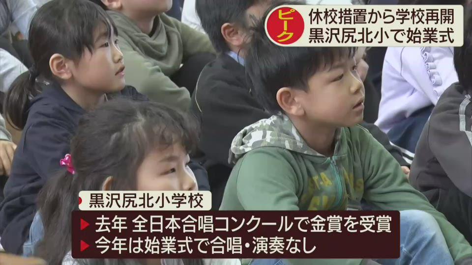 小・中学校 始業式ピーク